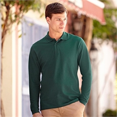 Fruit of the Loom Adult's Premium Long Sleeve Polo Shirt