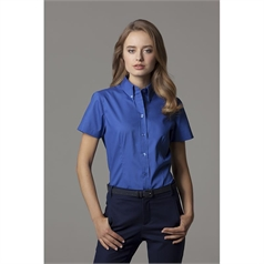 Kustom Kit Women's Corporate Oxford Short Sleeve Blouse