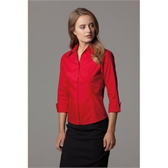 Kustom Kit Women's Premium 3/4 Sleeved Oxford Shirt