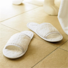 Towel City Adult's Classic Open Toe Terry Towelling Slippers