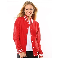 AWDis Just Hoods Adult's Knitted Collar College Jacket