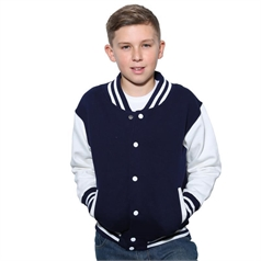 AWDis Just Hoods Children's Varsity Jacket