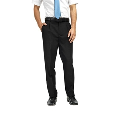 Premier Men's Single Pleated Polyester Trousers