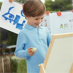 Fruit of the Loom Kid's Long Sleeve Polo Shirt