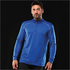 Rhino Men's Seville 1/4 Zip Midlayer Breathable Sports Top