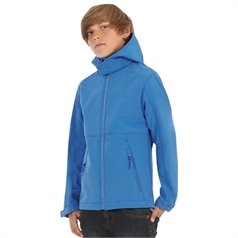 B&C Collection Children's Full Zip Softshell Hooded Jacket