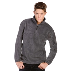 B&C Collection Men's Highlander Plus ¼ Zip Fleece Top