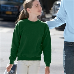 Gildan Children's Heavy Blend Set in Sleeve Crew Neck Sweatshirt