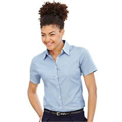Fruit of the Loom Lady-Fit Short Sleeve Oxford Shirt (65-000-0)
