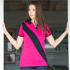 Front Row Women's Diagonal House Stripe Polo Shirt