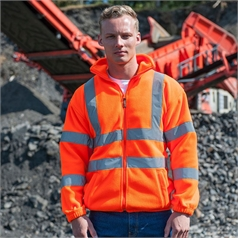 RTY Adult's High Visibility Full Zip Fleece Jacket