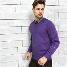 Premier Men's Knitted V-Neck Sweater