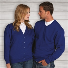 Russell Adult's Set In Sleeve V-Neck Sweat Shirt