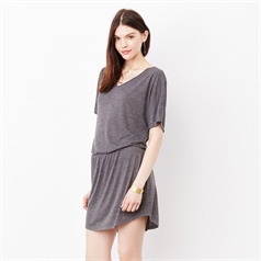 Bella and Canvas Women's Flowy Relaxed Fit V-Neck Dress