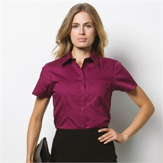 Kustom Kit Women's Premium Pocket Short Sleeve Oxford Blouse