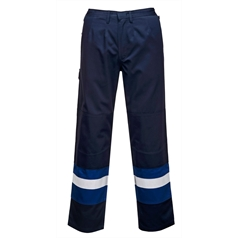Portwest BizFlame Plus Flame Resistant High Vis Tape Trousers