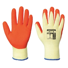 Portwest A109 Grip Glove (with retail bag) Orange
