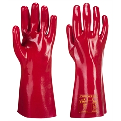 Portwest Fully Coated 35cm PVC Gauntlet Glove