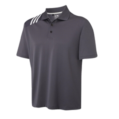 adidas Men's Climacool 3 Stripe Solid Polo Shirt