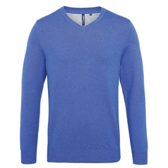 Asquith and Fox Men's Cotton Blend V-Neck Sweater