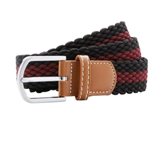 Asquith and Fox Men's Two Colour Stripe Braid Stretch Belt