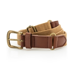 Asquith & Fox Faux Leather and Canvas Belt