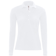 B&C Collection Women's Safran Pure Long Sleeve Polo Shirt