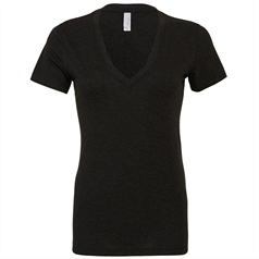 Bella Canvas Ladies Triblend Deep V-neck T-shirt