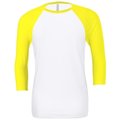 Bella Canvas Adult's Triblend Raglan Sleeve Baseball T-Shirt
