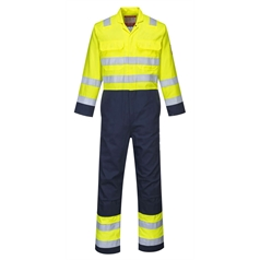Portwest Bizweld Flame Resistant Hi Vis Anti-Static Coverall