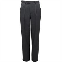 Delta single pleat trousers