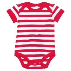 BabyBugz Baby Poppers at Shoulder Stripy Bodysuit