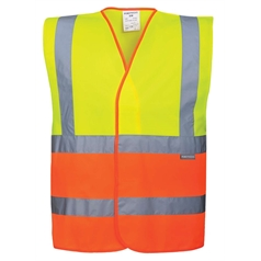 Portwest Yellow/Orange Two Tone High Visibility Safety Vest