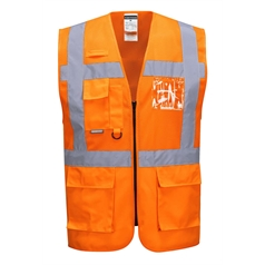 Portwest Vest Port Fabric Madrid Executive Mesh Safety Vest