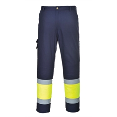 Portwest Kingsmill Fabric High Visibility Two Tone Combat Trouser