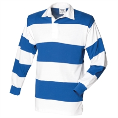 Front Row Men's Sewn Stripe Long Sleeved Rugby Shirt