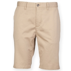 Front Row Men's Stretch Flat Front Chino Shorts