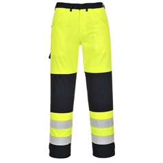 Portwest BizFlame Multi Flame/Chemical Resistant Hi Vis Trousers