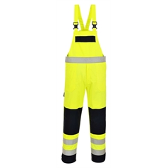 Portwest BizFlame Multi Flame/Chemical Resistant Hi Vis Bib and Brace
