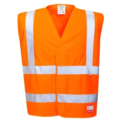 Portwest BizFlame Flame Resistant Work Anti Static Hi Vis Safety Vest