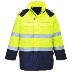 Portwest BizFlame Multi Arc Flame Chemical Resistant Hi Vis Jacket