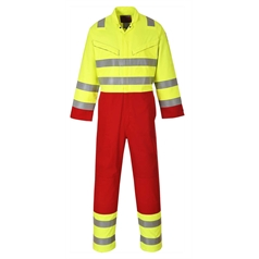 Portwest BizFlame Pro Flame Resistant High Vis Services Coverall