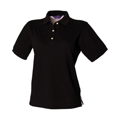 Henbury Women's Classic Stand Up Collar Polo Shirt