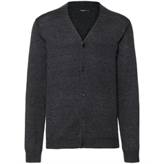 Russell Collection Men's V-Neck Knitted Cardigan