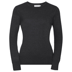 Russell Collection Women's Crew Neck Knitted Pullover