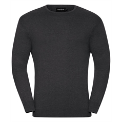 Russell Collection Men's Crew Neck Knitted Pullover