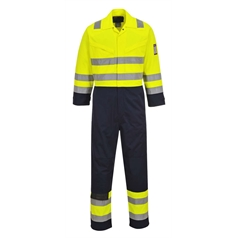 Portwest ModaFlame Anti Static Flame Resistant Hi Vis Coverall