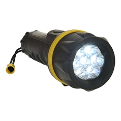 Portwest Lights 31 Lumens 7 LED Rubber Torch