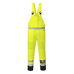 Portwest High Visibility Workwear Unlined Contrast Bib & Brace