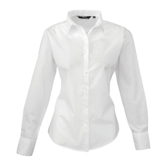 Premier Women's Poplin Fabric Long Sleeve Shirt